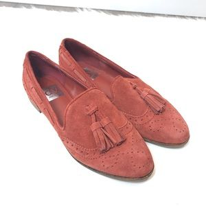 Dolce Vita Loafers Rust Orange size 6 Suede
